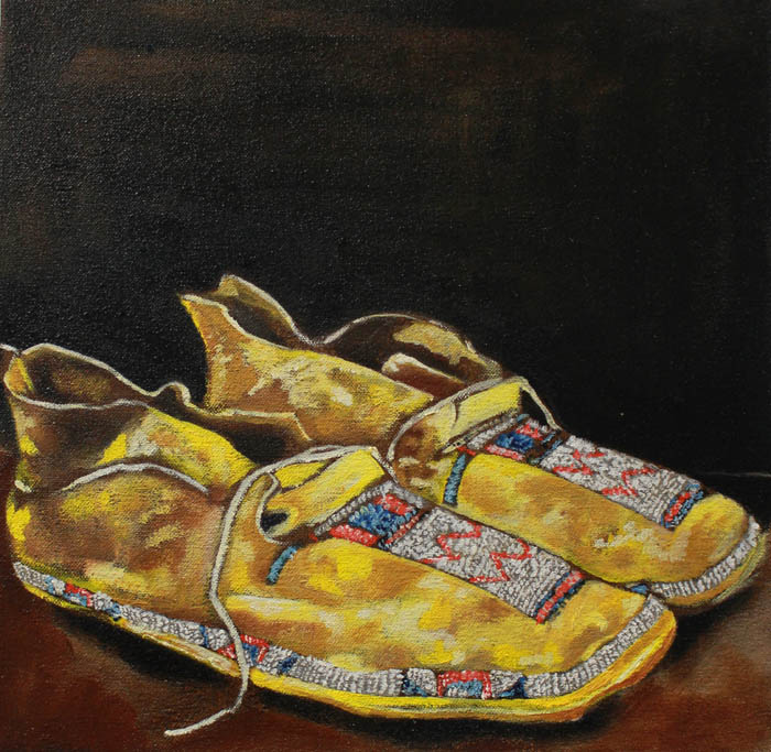 Beyond Footsteps-Kiowa Moccasin by Del Curfman of the Institute of American Indian Arts