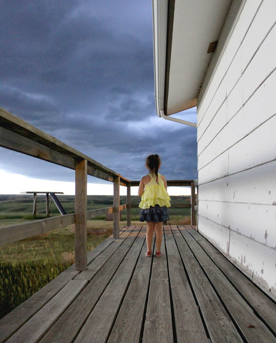Girl in a Storm by Brooke Beauvais of Sinte Gleska University
